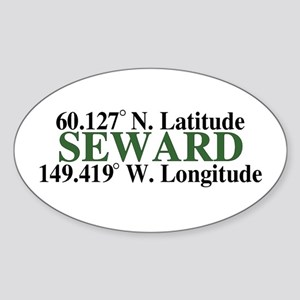 Seward Latitude Oval Sticker