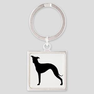 Italian Greyhound Square Keychain