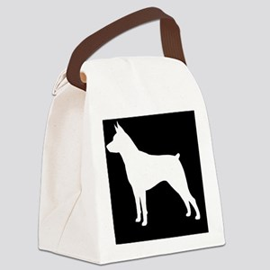Min Pin Patch Canvas Lunch Bag