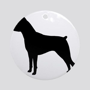 Min Pin Silhouette Round Ornament