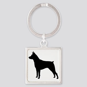 Min Pin Silhouette Square Keychain