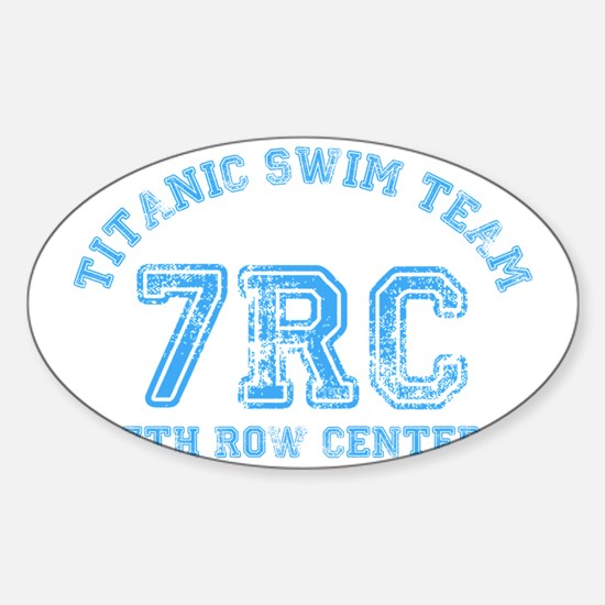 Titanic Swim Team Sticker (Oval)