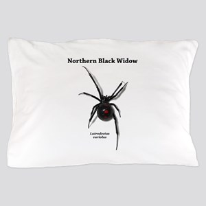 Northern Black Widow with text Pillow Case