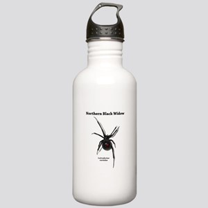 Northern Black Widow with text Water Bottle