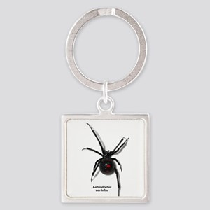 Northern Black Widow with text Keychains