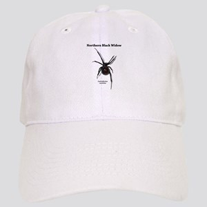 Northern Black Widow with text Baseball Cap