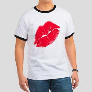Red Lips Ringer T