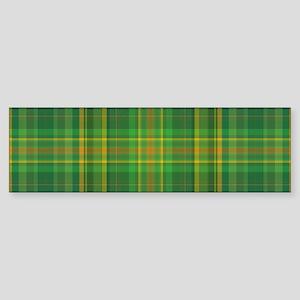 Green Plaid Bumper Sticker