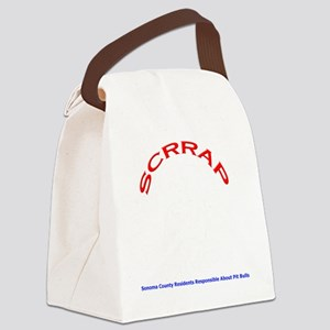 Logo Design Larger Dark Canvas Lunch Bag