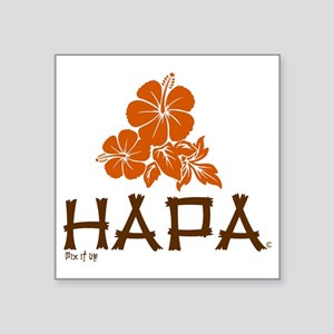 "Hapa Square Sticker 3"" x 3"""