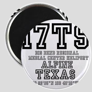 TEXAS - AIRPORT CODES - 17TS - BIG BEND REG Magnet
