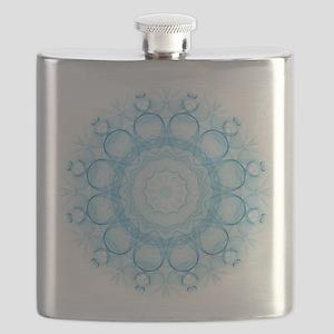 Blue Queens Mandala Flask