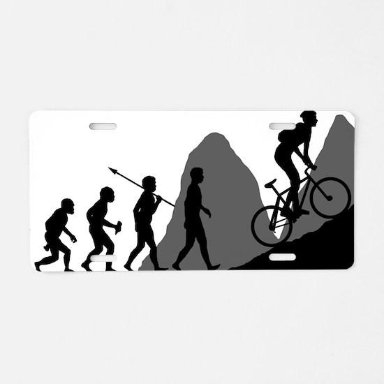 Mountain-Biking Aluminum License Plate