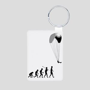 Paragliding2 Aluminum Photo Keychain
