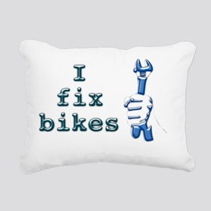 I Fix Bikes Rectangular Canvas Pillow