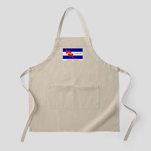grok the zen Colorado flag Light Apron