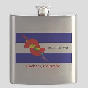 grok the zen Colorado flag Flask