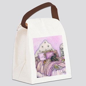 Sighthounds slumber party Canvas Lunch Bag