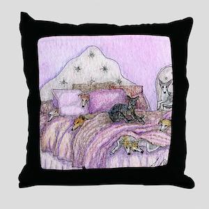 Sighthounds slumber party Throw Pillow