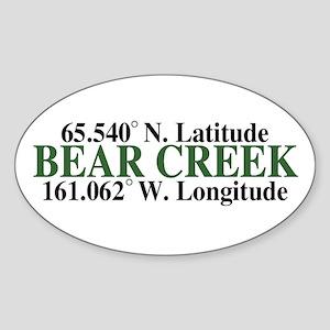 Bear Creek Latitude Oval Sticker