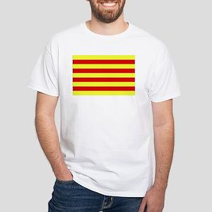 Catalunya Flag White T-Shirt