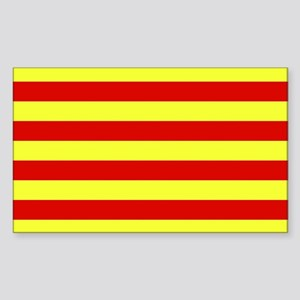Catalunya Flag Rectangle Sticker