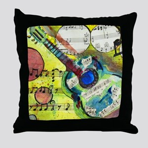 Heidelberg Guitar Throw Pillow