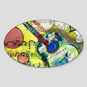 Heidelberg Guitar Sticker (Oval)