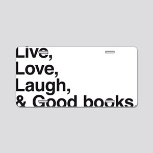 good books Aluminum License Plate