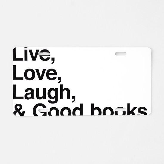 good books Aluminum License Plate