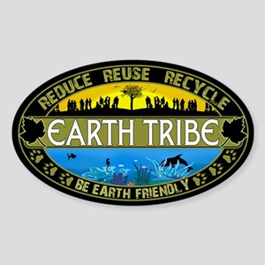 Earth Tribe Sticker (Oval)