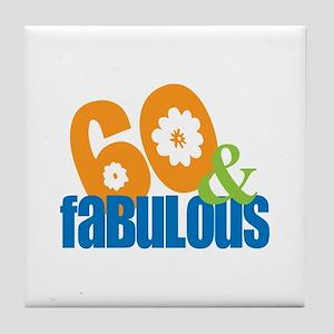 60th birthday & fabulous Tile Coaster