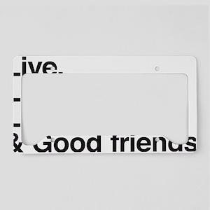 good friends License Plate Holder