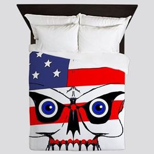 Freedom skull Queen Duvet