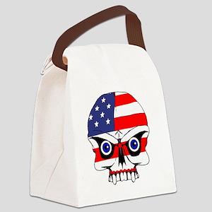 Freedom skull Canvas Lunch Bag