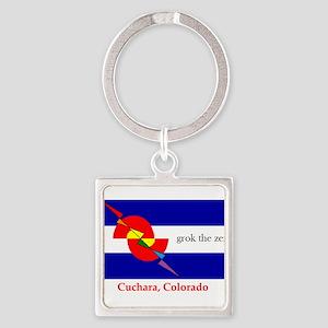 grok the zen Colorado flag Keychains