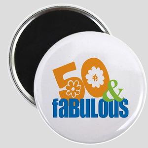 50th birthday & fabulous Magnet