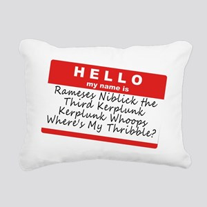 Ramses Niblick Rectangular Canvas Pillow