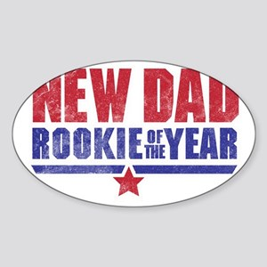 New Dad Rookie of the Year Sticker (Oval)