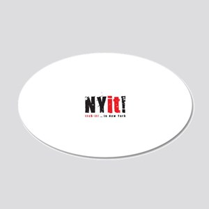 NYit! itch-it!... in New Yor 20x12 Oval Wall Decal