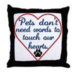 Touch Your Heart v4 Throw Pillow