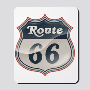 Glossy Route 66 Mousepad