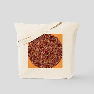 Red Mosaic Tiles kaleidoscope Tote Bag