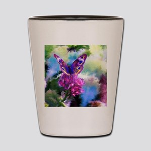Colorful Abstract Butterfly Shot Glass