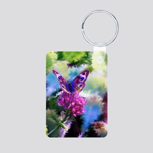 Colorful Abstract Butterfl Aluminum Photo Keychain