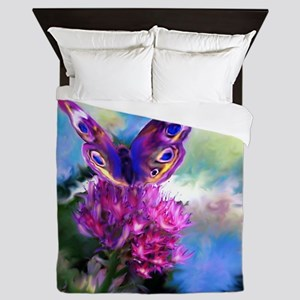 Colorful Abstract Butterfly Queen Duvet