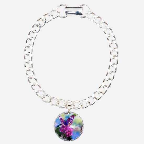 Colorful Abstract Butter Charm Bracelet, One Charm