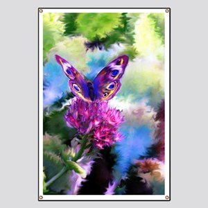 Colorful Abstract Butterfly Banner