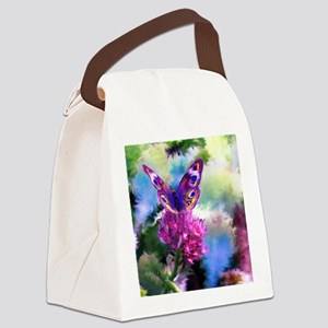 Colorful Abstract Butterfly Canvas Lunch Bag