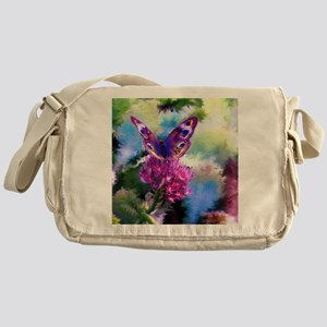 Colorful Abstract Butterfly Messenger Bag